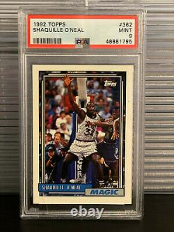 1992 Topps #362 Shaquille O'Neal Rookie PSA 9 MINT Orlando Magic