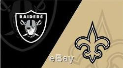 2 Tickets Las Vegas Raiders Vs New Orleans Saints Home Opener Sept 21/20