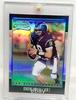 2001 Bowman Chrome Rookie Refractor Saints Drew Brees Rare Sp /1999