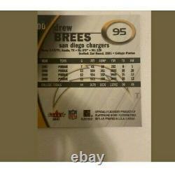 2001 Fleer E-X Drew Brees RC /1000 Saints Possible PSA 10 Rookie Card