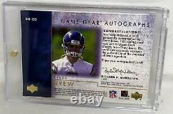 2001 Game Gear Autographs Rookie Auto Saints Drew Brees Rare Sp