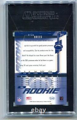 2001 Leaf Rookies & Stars Drew Brees Auto RC #202 SGC 9 MINT