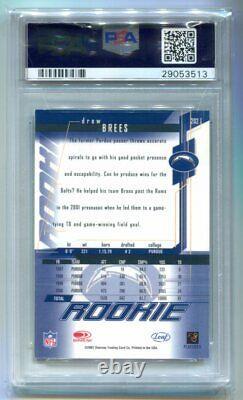 2001 Leaf Rookies & Stars Drew Brees Auto RC /230 PSA 8 NM-MT 29053513