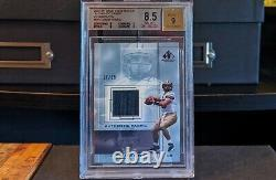 2001 Sp Game Used Authentic Fabric Drew Brees Rookie Auto Rc /25 Bgs 8.5 Nm-mt+