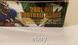 2001 TOPPS CHROME FOOTBALL BOX 24 PACKS Drew Brees Tomlinson Vick Wayne