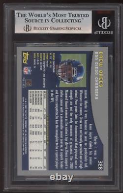 2001 Topps #328 Drew Brees Saints RC Rookie BGS 9 Mint