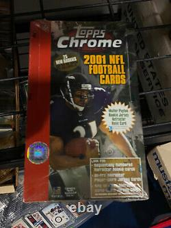 2001 Topps Chrome Football Hobby Sealed Box RARE Brees Vick Tomlinson Refractor