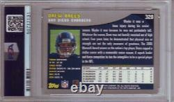 2001 Topps Drew Brees Rookie Card Psa 9