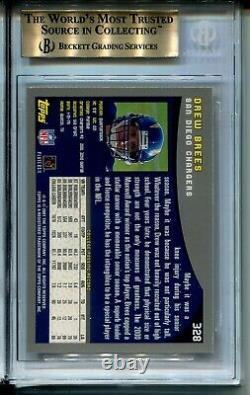 2001 Topps Football 328 Drew Brees Rookie Card RC Graded BGS Gem Mint 9.5 Saints