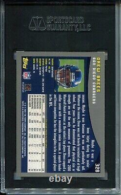 2001 Topps Football #328 Drew Brees Rookie Card RC Graded SGC 9.5 Saints