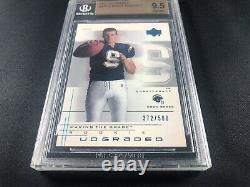 2001 UD Graded Drew Brees Rookie Card RC Portrait #/500 BGS 9.5 GEM MINT Read