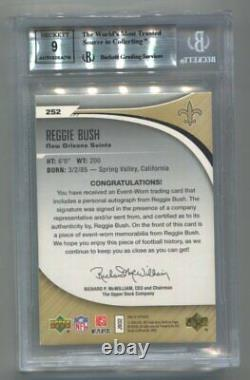 2006 SP Authentic Reggie Bush RC Patch Auto 212/299 BGS 9 Mint Saints