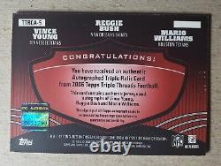 2006 Triple Threads Reggie Bush Vince Young Mario Williams Jersey Auto RC /36