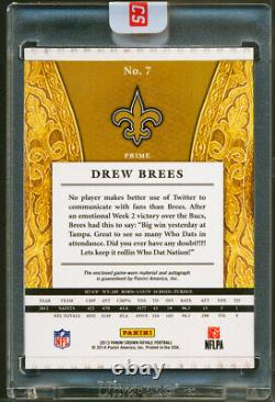 2013 DREW BREES Crown Royale Silhouette PRIME Patch On Card Auto SP Sealed /25
