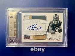 2014 Panini Flawless Drew Brees Greats Dual Patch Auto, #18/25, BGS 9.5 / 10