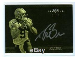 2015 Diamond Football DREW BREES Auto Autograph Saints 8/10