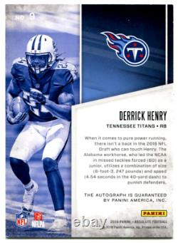 2016 Absolute Derrick Henry Absolutely Ink Rookie Auto #16/25 Tennessee Titans
