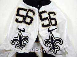 2017 New Orleans Saints A. J. Klein #56 Game Issued White Jersey