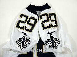 2017 New Orleans Saints John Kuhn #29 Game Issued White Jersey NOS0040