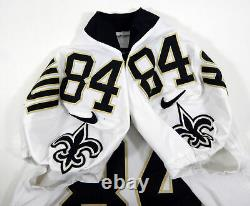 2017 New Orleans Saints Michael Hoomanawani #84 Game Used White Jersey