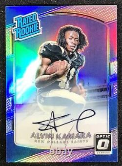 2017 Optic Rated Rookie Alvin Kamara Silver Prizm Holo Refractor Auto RC #/99