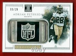 2017 Panini Impeccable Adrian Peterson 1 Oz Silver Bar Troy Ounce #d /15 Ssp 1/1