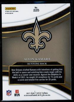 2017 Panini Select Alvin Kamara Field Level Silver Prizm RC #225 Saints Rookie
