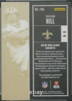 2017 Panini Taysom Hill (RC) Auto, Rookie Autograph, New Orleans Saints PSA 10