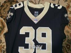2017 Zach Line Game Worn New Orleans Saints Nike Jersey Size44