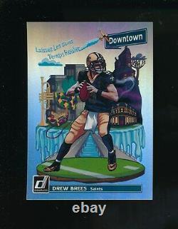 2018 Donruss #DT-10 Downtown Drew Brees New Orleans Saints