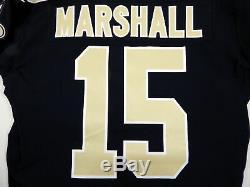 2018 New Orleans Saints Brandon Marshall #15 Game Issued Black Jersey Benson