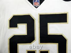 2018 New Orleans Saints Mike Gillislee #25 Game Used White Jersey Benson Patch
