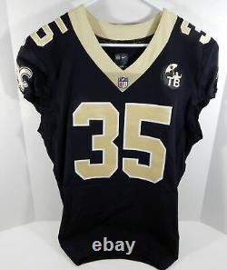 2018 New Orleans Saints Shane Vereen #35 Game Issued Black Jersey Benson Patch