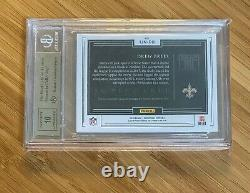 2018 Panini Impeccable Jersey Number #8/9 Drew Brees Autograph BGS 9.5 Auto 10