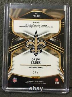 2018 Select Football Drew Brees 2/5 SSP 2 Color Patch Autograph NO Saints