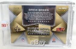 2018 Spectra Pink Xfractor Super Bowl Champions Saints Auto Drew Brees Sp /10