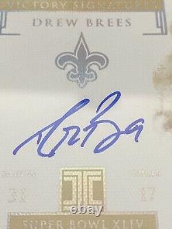 2019 Impeccable Drew Brees On Card Auto /5 Saints Super Bowl Victory Signatures