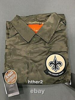 2019 New Orleans Saints Nike Salute to Service Jacket IN HAND All Sizes STS