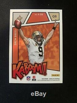 2019 Panini Absolute Kaboom Drew Brees New Orleans Saints Case Hit K-DB