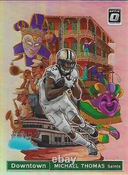 2020 Donruss Optic Downtown Michael Thomas #DT-16 New Orleans Saints
