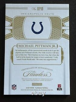 2020 Flawless MICHAEL PITTMAN JR Rookie RC NUMBER PATCH #25/25! COLTS! HOT