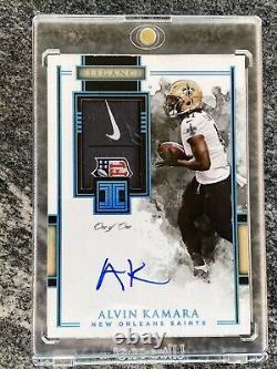 2020 Impeccable Football Alvin Kamara One Of One 1/1 NFL Logo Nike Swoosh