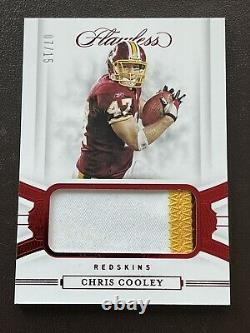 2020 PANINI Flawless CHRIS COOLEY GAME WORN USED RUBY PATCH! /15! WFT! SKINS