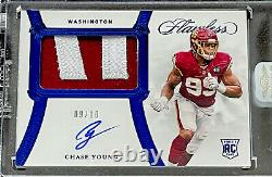 2020 Panini Flawless CHASE YOUNG Rookie RC Patch Auto SAPPHIRE /10 WFT Redskins