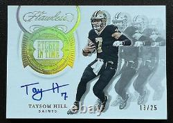 2020 Panini Flawless Football TAYSOM HILL ETCHED IN TIME AUTO /25 SP SAINTS