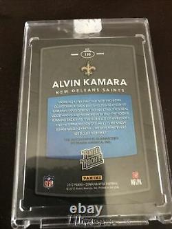 2020 Panini Honors Alvin Kamara Gold Vinyl Optic On Card Auto 1/1 RC