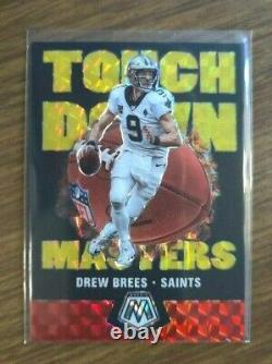 2020 Panini Mosaic Drew Brees SP Touchdown Masters Gold Fluorescent #17/20 Rare