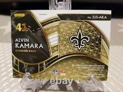 2020 Select Alvin Kamara Black Finite 3 Color Patch Auto 1/1 JUS-AKA SAINTS