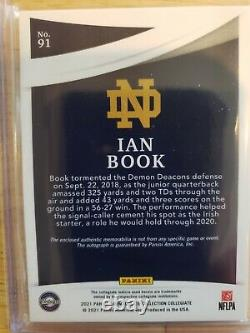 2021 Immaculate Collegiate Ian Book Rookie Auto Jersey Patch Rpa 8/25 Saints