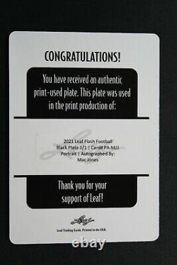 2021 Leaf Flash MAC JONES Patriots Printing Plate RC Auto 1/1 C1924